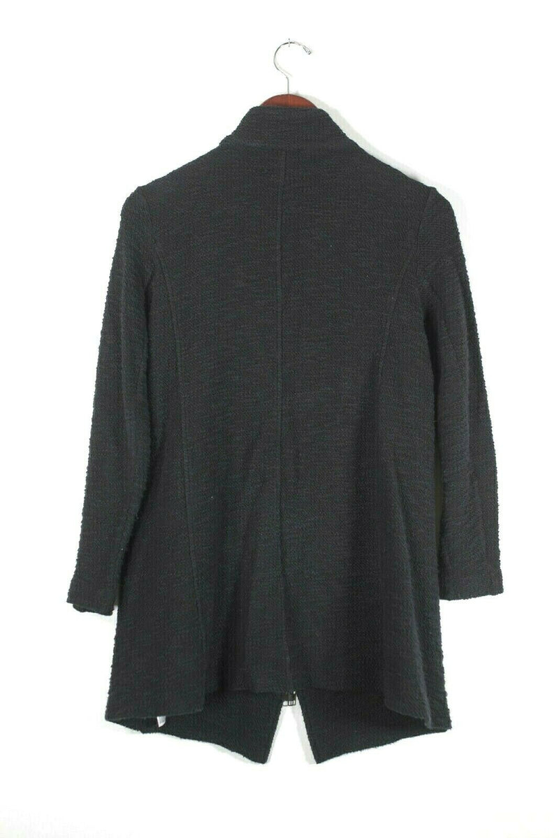 Eileen Fisher Petite Small Black Knit Jacket