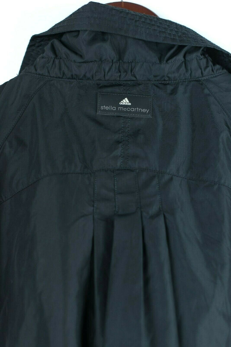 Adidas by Stella McCartney Womens Small Black Jacket Windbreaker Double Zipper
