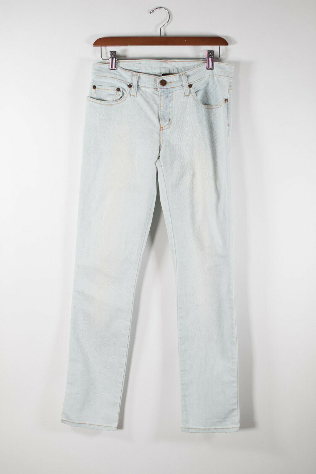 Nobody Womens Size 28 Light Blue Jeans Cult Ankle Skinny High Rise Slim Denim