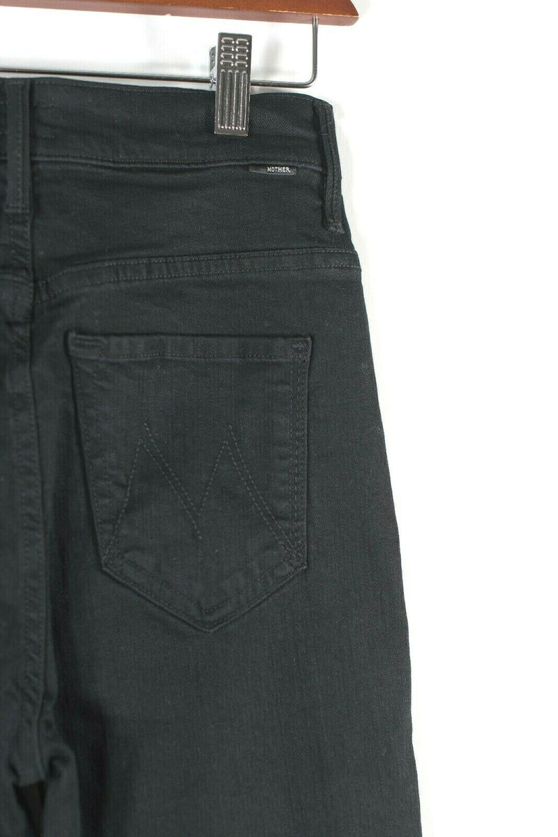 Mother Jeans Size 25 Baa Baa Black Sheep Jeans Swooner Dagger Ankle Fray NWT