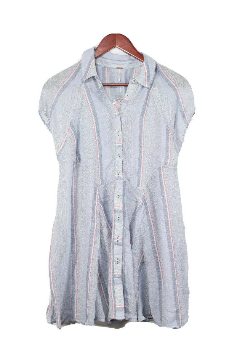 Free People Small Blue Babydoll Dress NWT