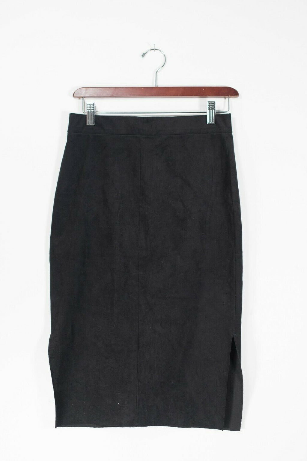 Wilfred Free Women's Size 2 XS Black Skirt Faux Suede Short Knee Length Stretch