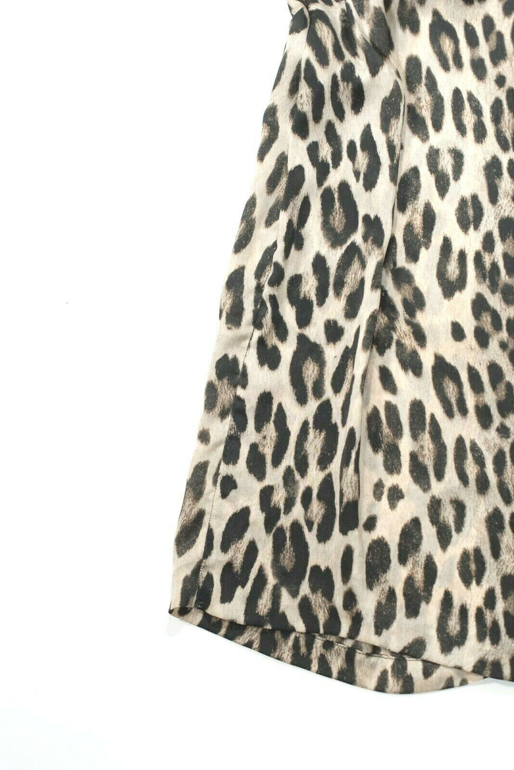 L'Agence Womens Size 6 Small Tan Brown Dress Leopard Animal Print Belted Midi