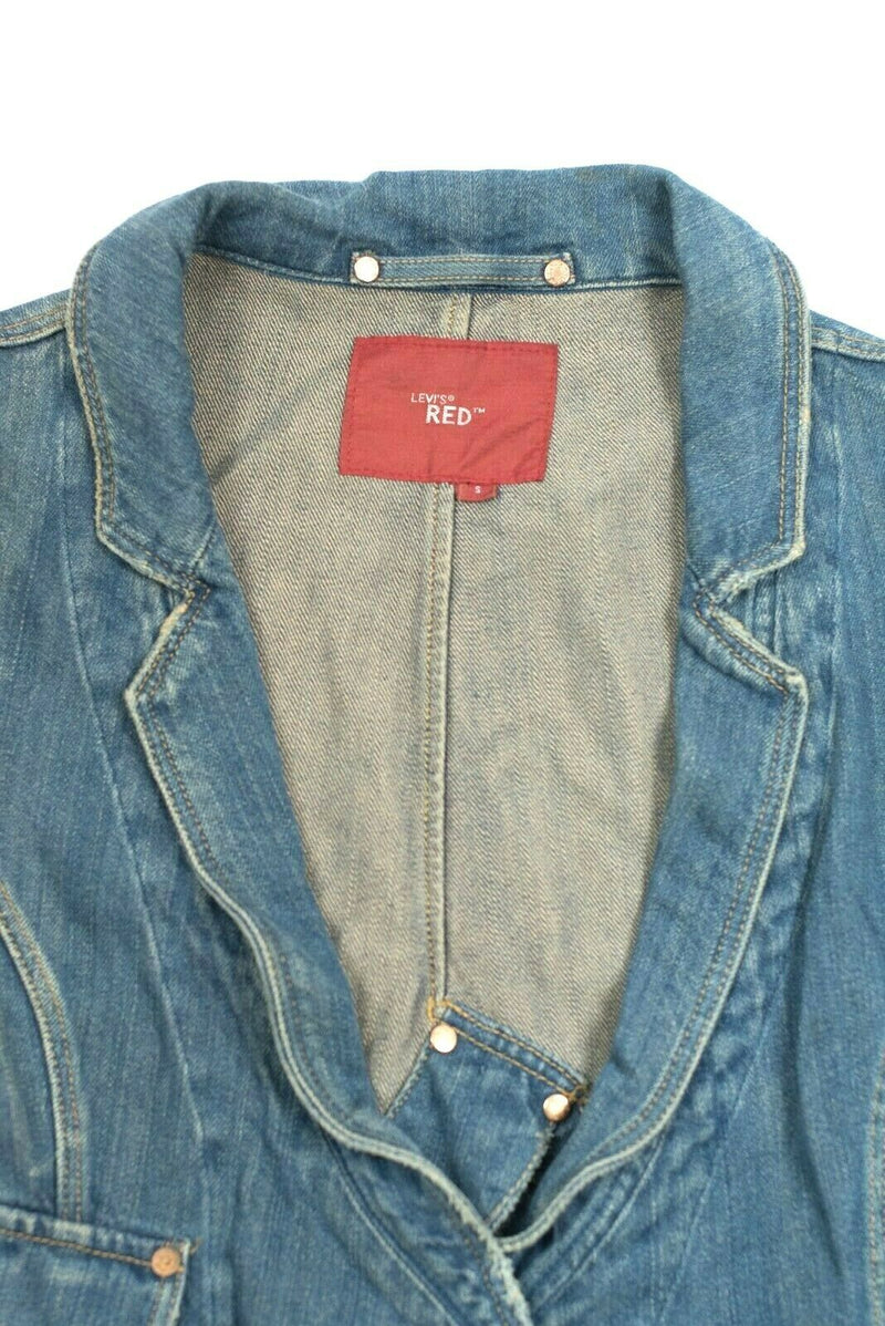 Levis Womens Small Denim Jacket Red Tab Engineered Denim Blazer Rare Vintage