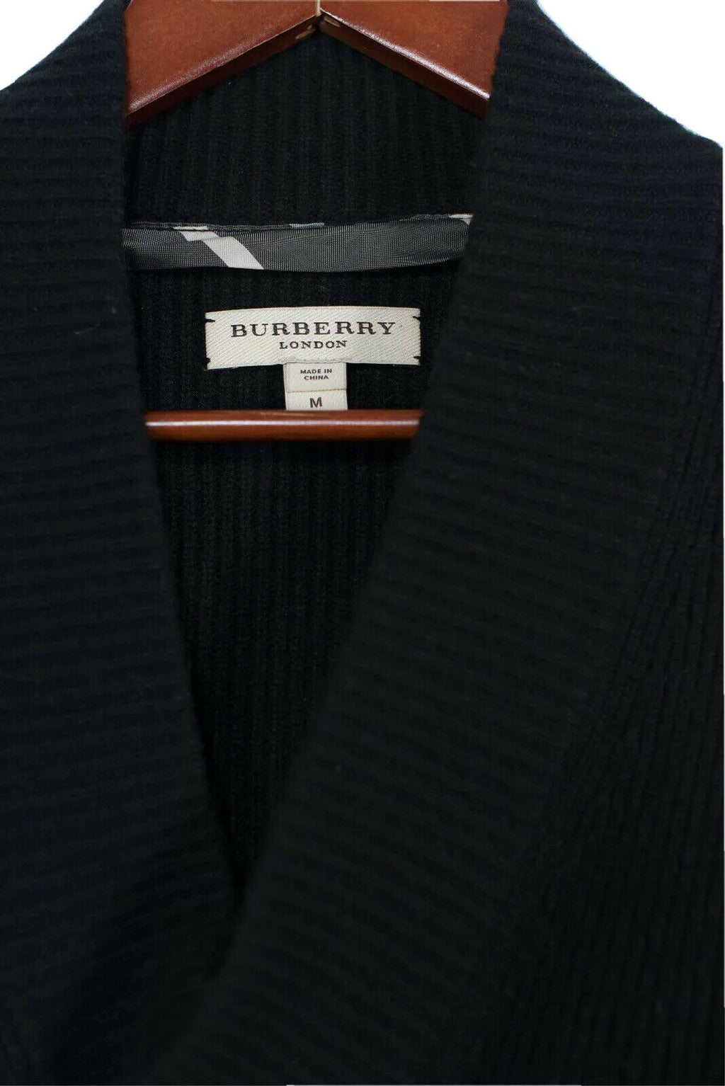 Burberry Womens Medium Black Cashmere Pullover Sweater