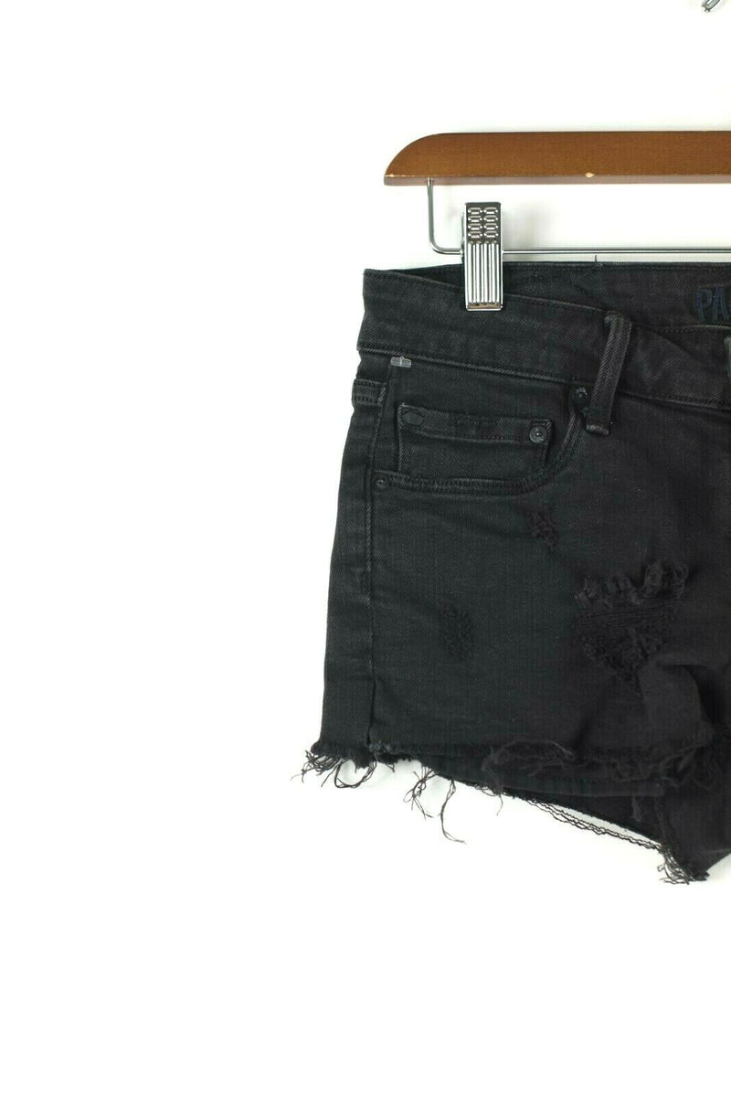 Paradise Mine Aritzia Womens Size 25 Black Shorts Cutoff Distressed Ripped Jeans