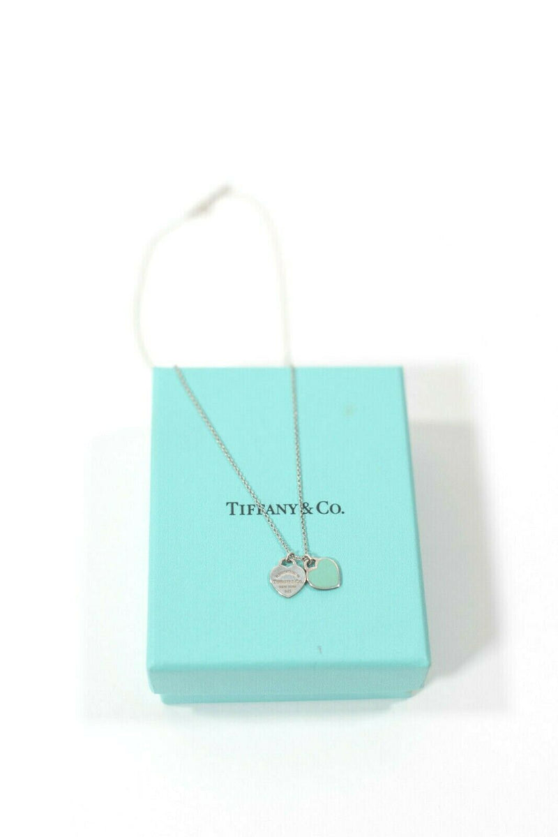 Tiffany & Co. Mini Double Heart Tag Necklace
