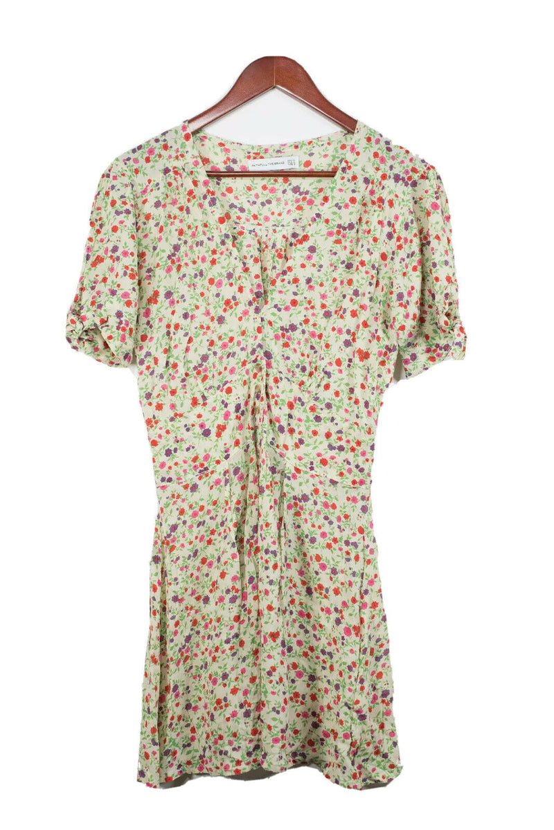 Faithfull The Brand Size 4 Beige Floral Print Dress