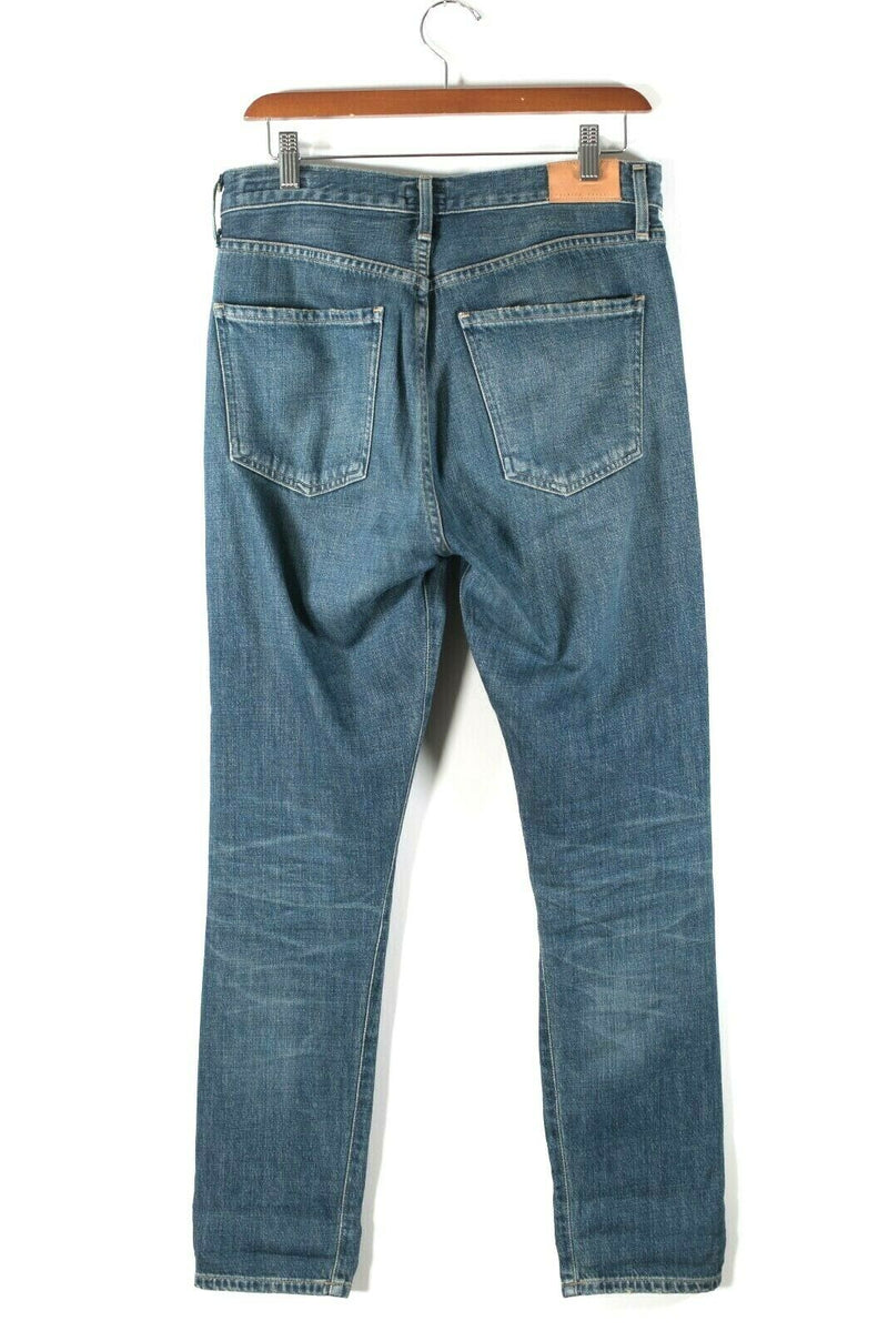 Citizens Of Humanity COH Womens Size 26 Blue Denim Boyfriend Button Fly Jeans