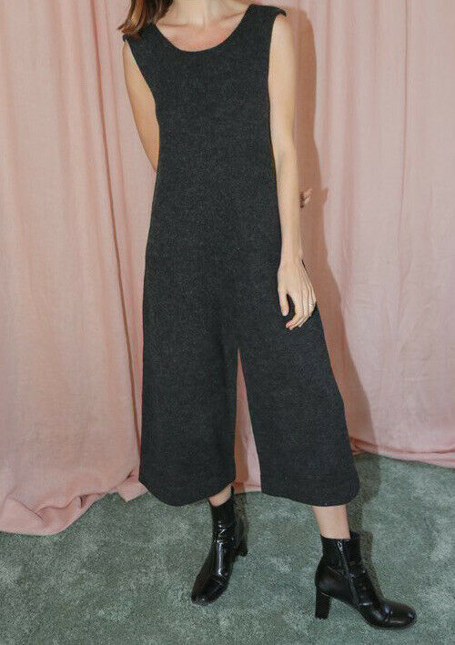 Lauren Manoogian Women's Medium Black Miter Jumpsuit Wool Knit Sold Out $430