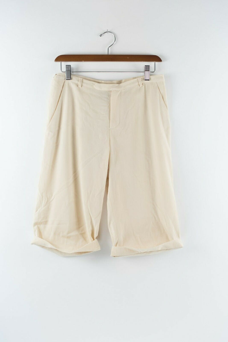 Jean Paul Gaultier Femme Womens Size 8 Medium Cream White Shorts Bermuda Vintage