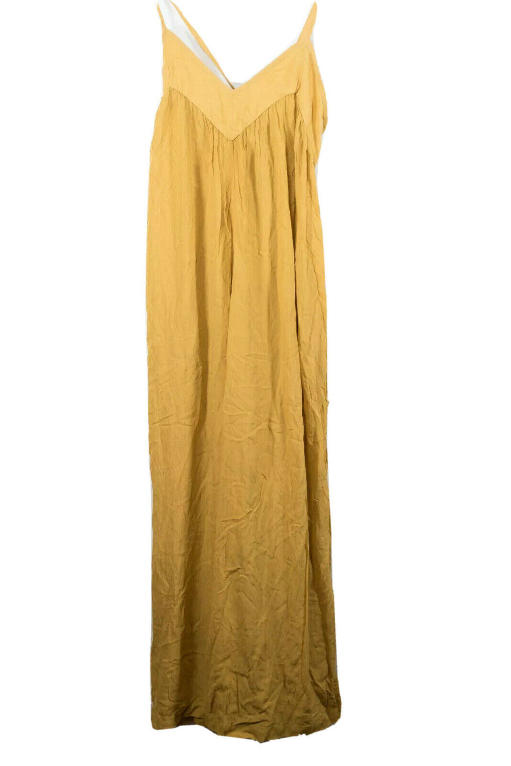 Indah Womens Size XS Yellow Jumpsuit Wide Leg Boho Pantsuit Playsuit Tank Romper