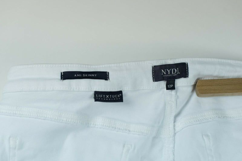 NYDJ Not Your Daughters Jeans Womens Size 12 Petite White Ami Skinny Ankle Jeans