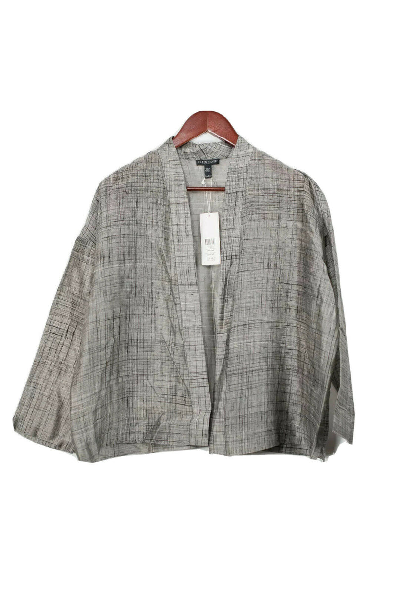 Eileen Fisher Womens Size Petite Medium Grey Jacket NWT