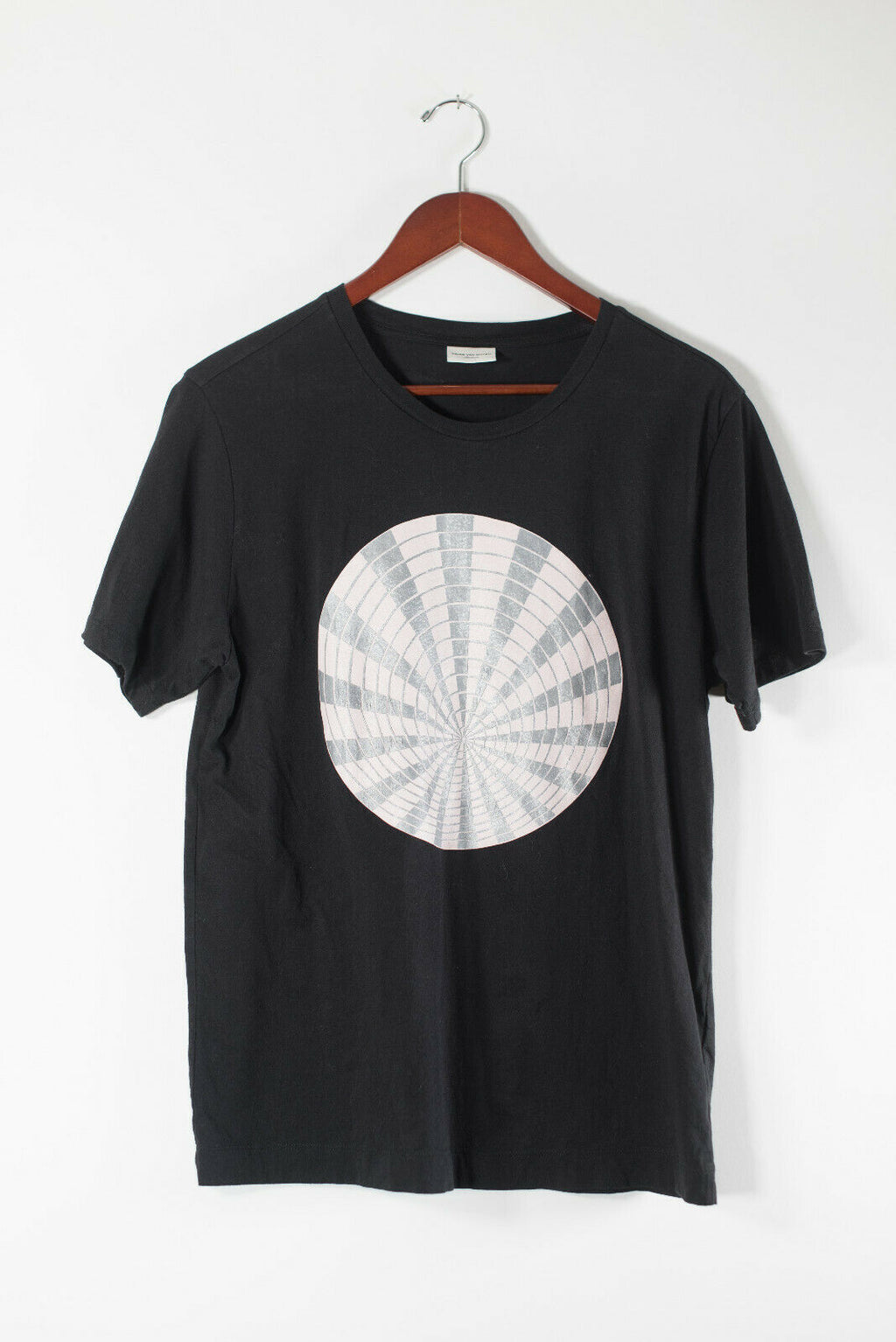 Dries Van Noten Medium Black Pink Spiral Graphic Tee