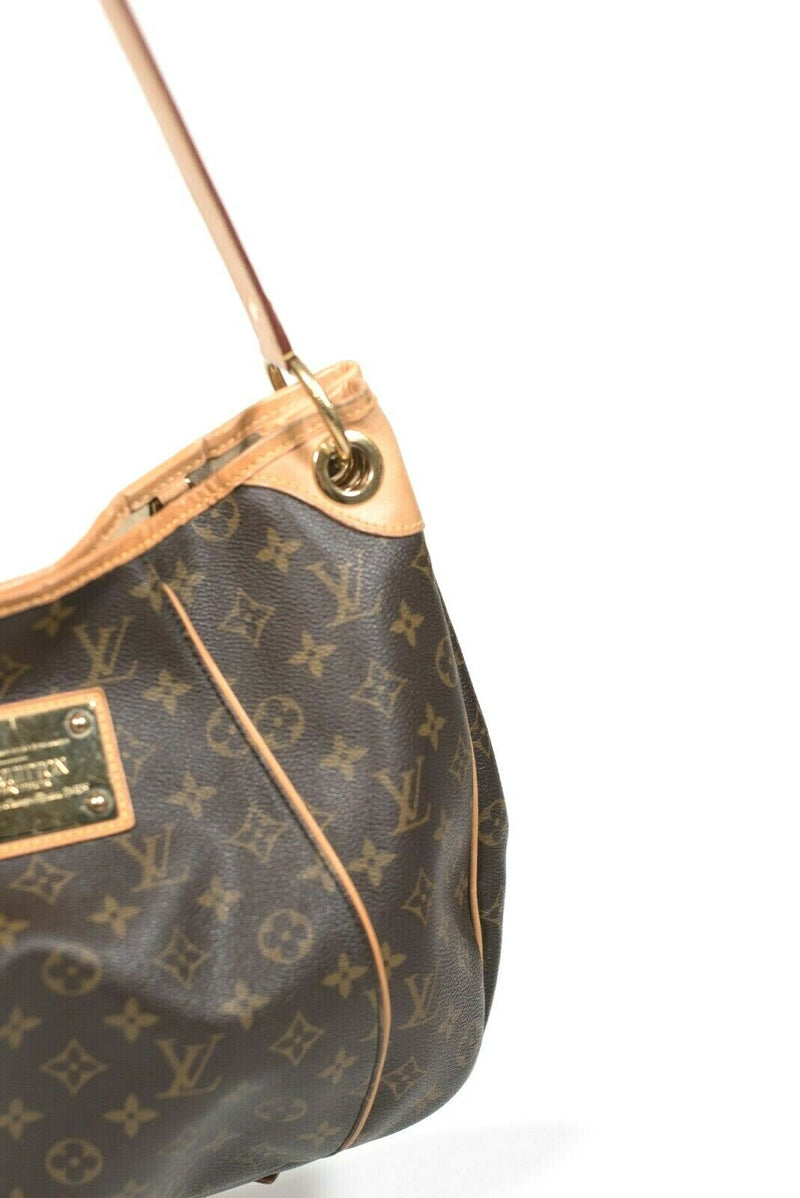 Louis Vuitton Womens GM Brown Tan Shoulder Bag Monogram Logo Galleria Tote Purse