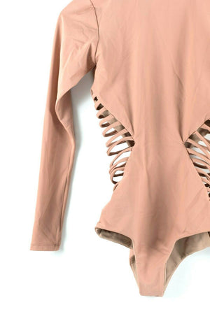 Rue Stiic Free People Womens Medium Peach Pink Strappy Dreamland Surf Suit NWT