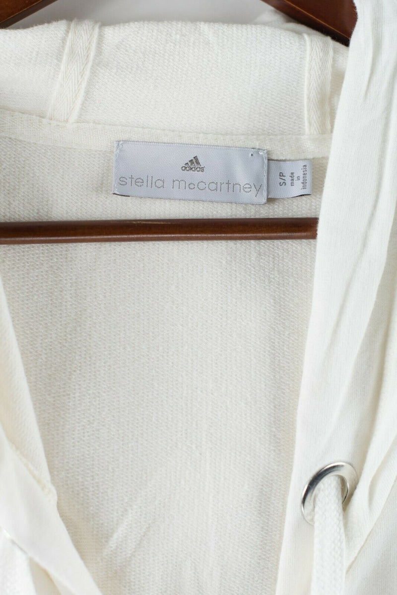 Adidas by Stella McCartney Womens Size Small White Hoodie Short Sleeved Jacket