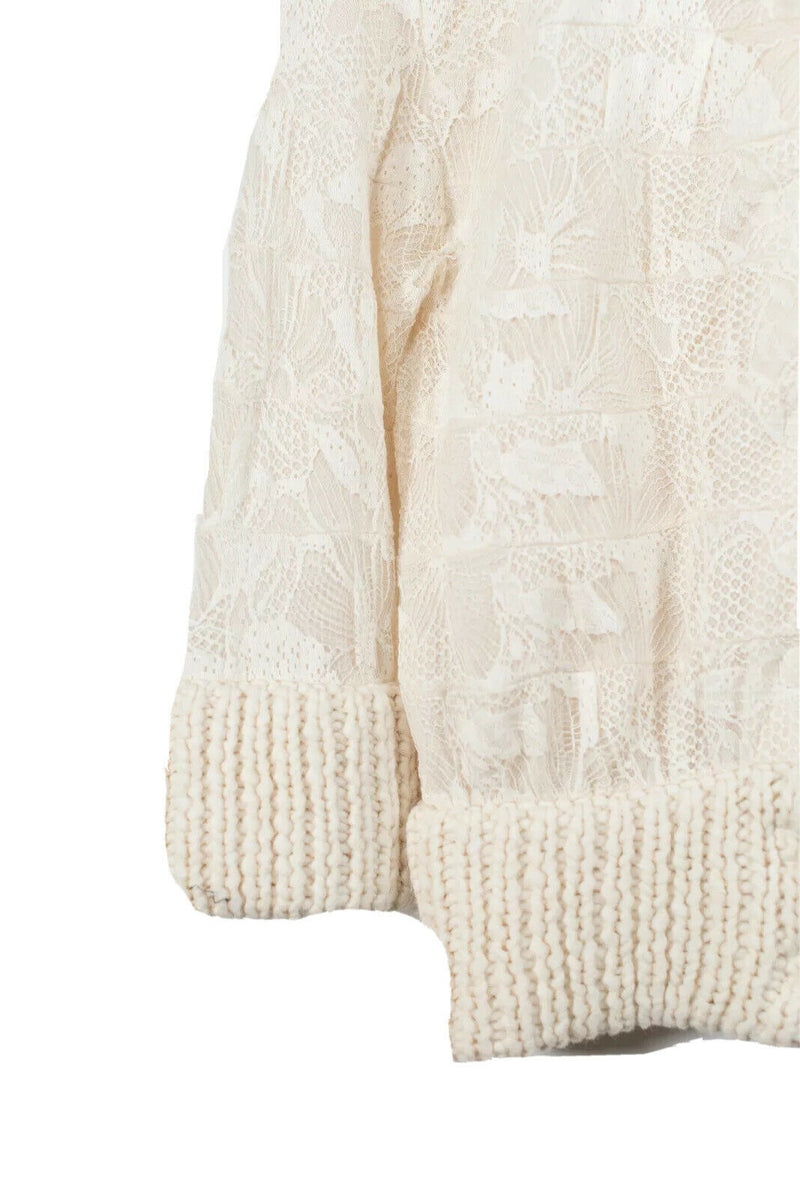 Marc Jacobs Womens Medium Ivory Cardigan Sweater