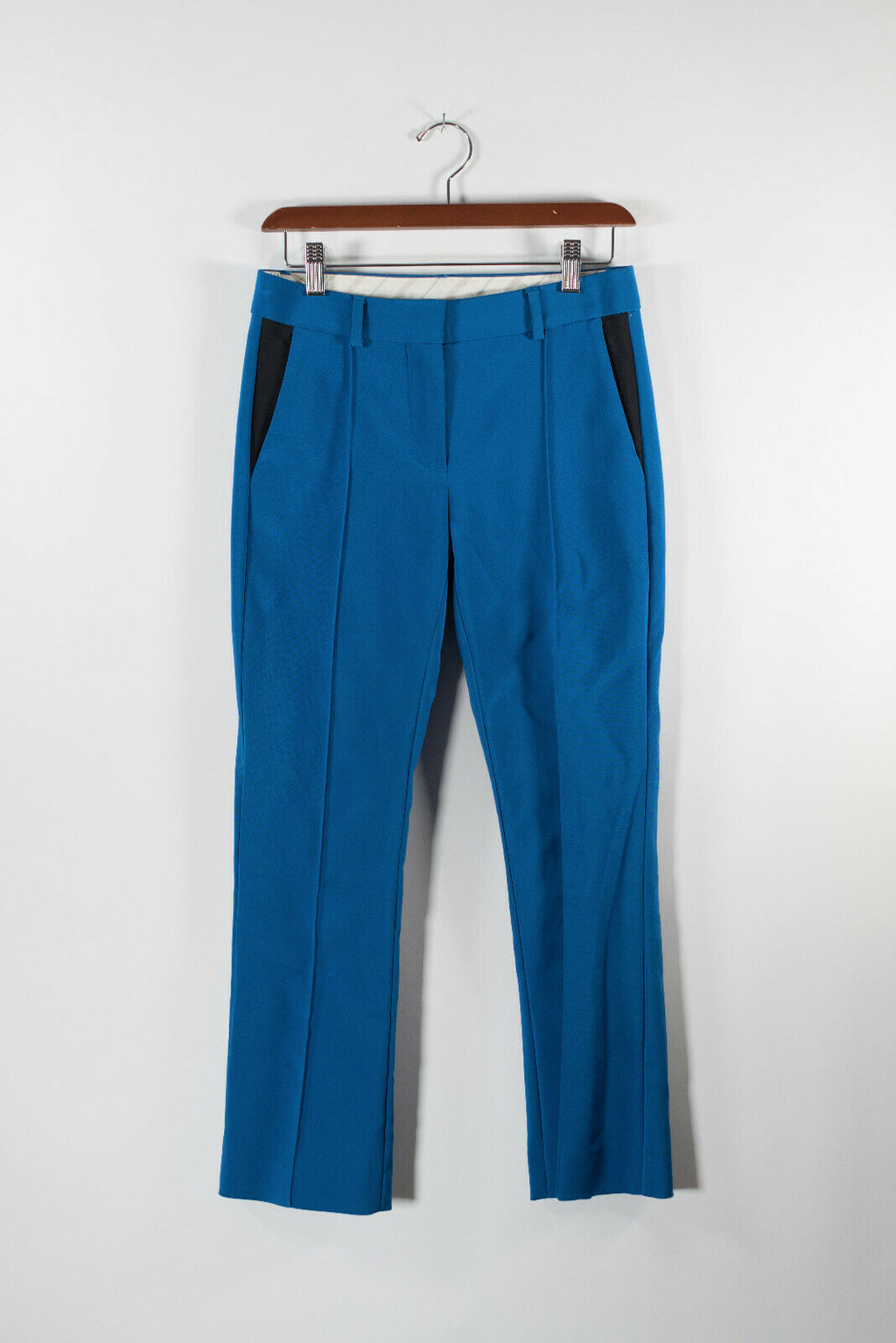 Sportmax Code Womens Size 2 XS Blue Pants Low Rise 2 Tone Ankle Pleated Trousers