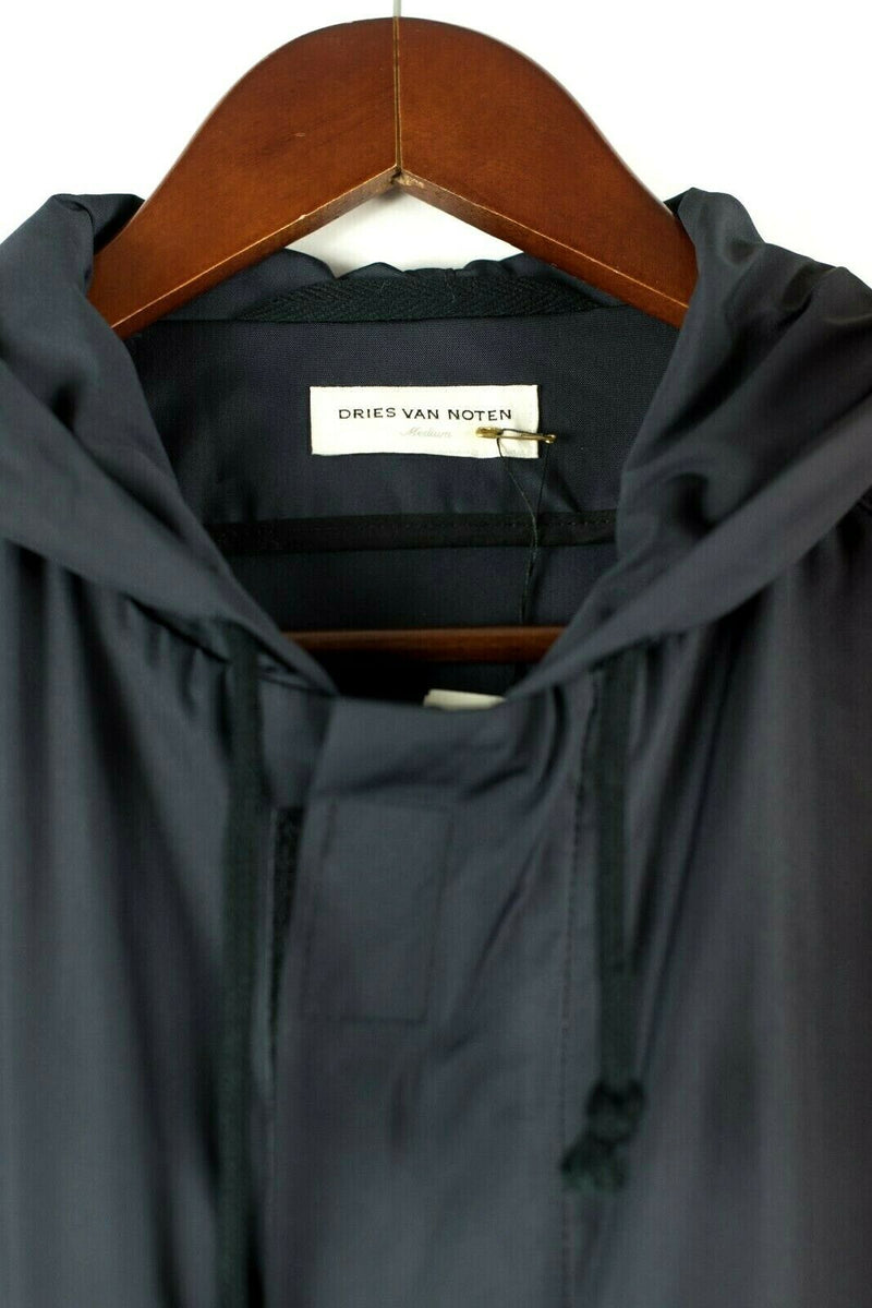 Dries Van Noten Womens Medium Blue Hooded Jacket NWT