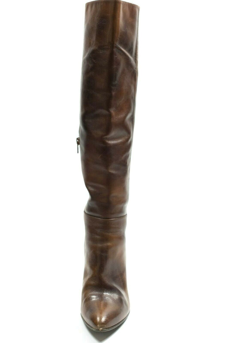Stuart Weitzman Womens Size 8 Cognac Brown Boots Leather Saddle Old West $795