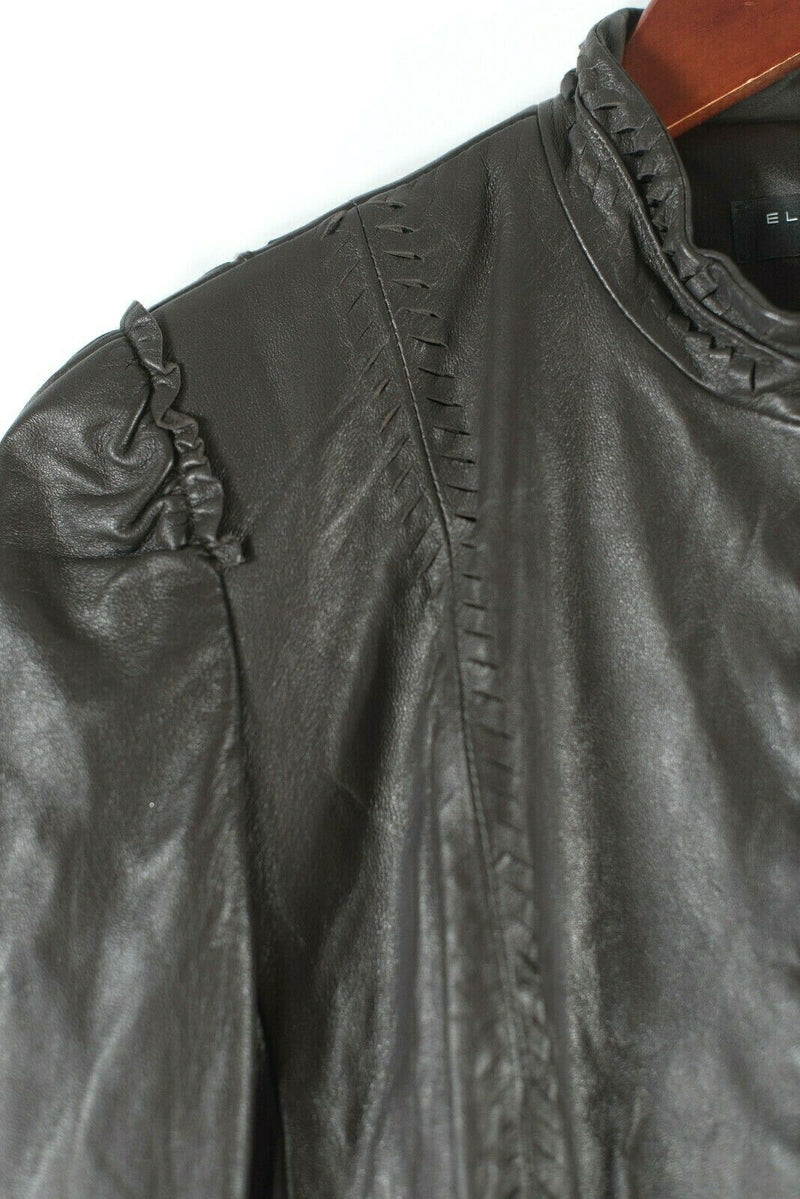 Elie Tahari Re Edition Medium Brown Leather Jacket