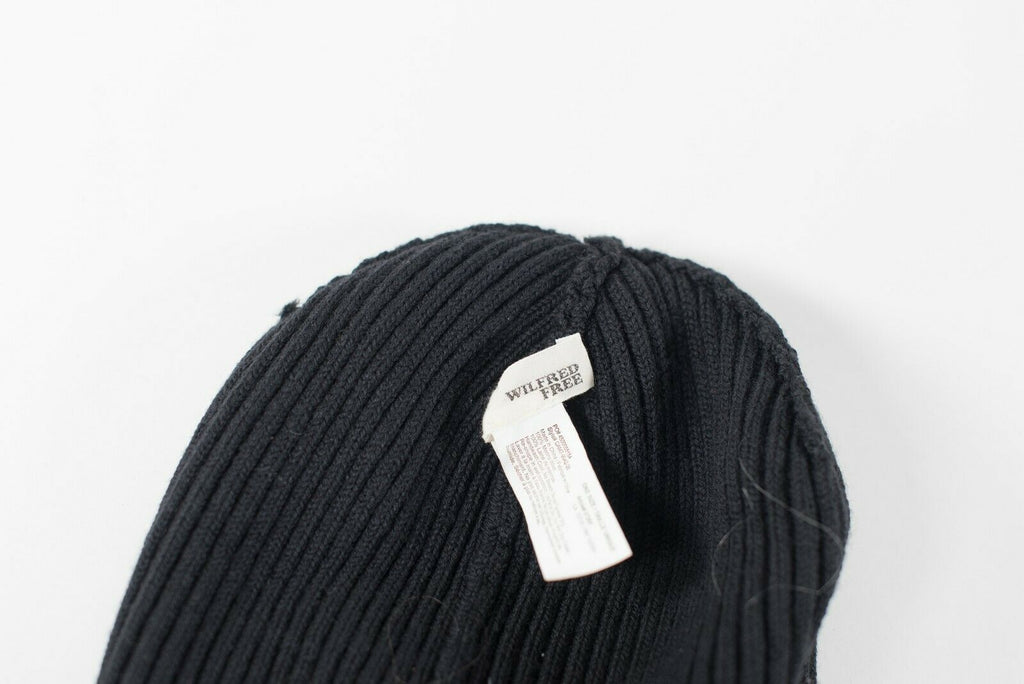 Aritzia Wilfred Women's One Size Black Hat Knit Beanie Stretchy Ribbed Toque Hat