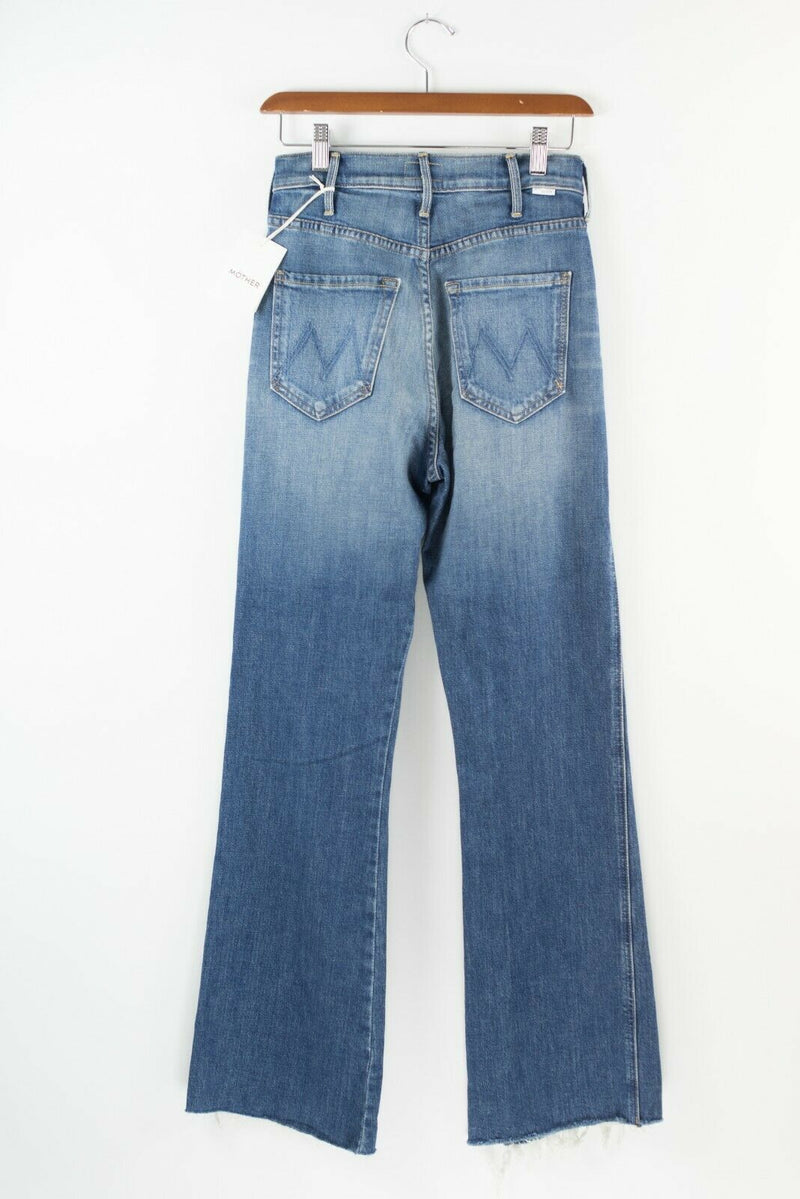 Mother Denim Womens Size 24 Blue Jeans Faded Raw Hem Frayed Wide Leg Denim NWT
