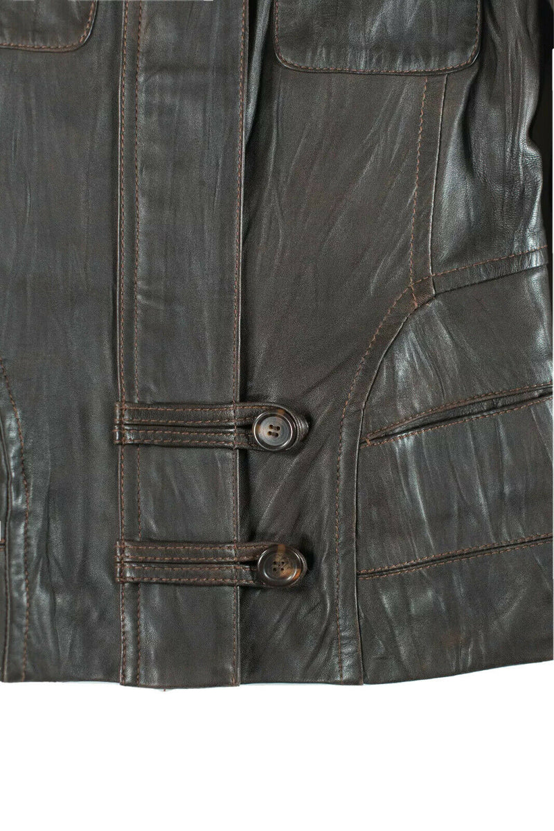 Danier Womens XXS Brown Jacket Moto