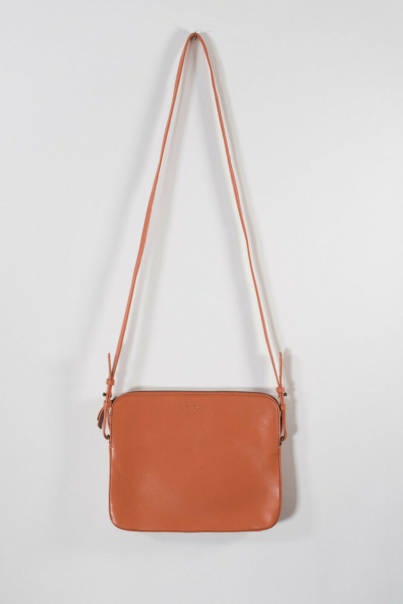 Radley London Womens Orange Crossbody Malton Small Zip Around Cross Body Purse