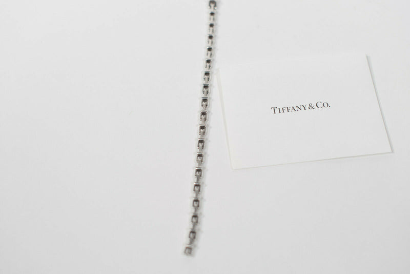 Tiffany & Co. Tiffany T Narrow Chain Bracelet 925 Sterling Silver W/Box