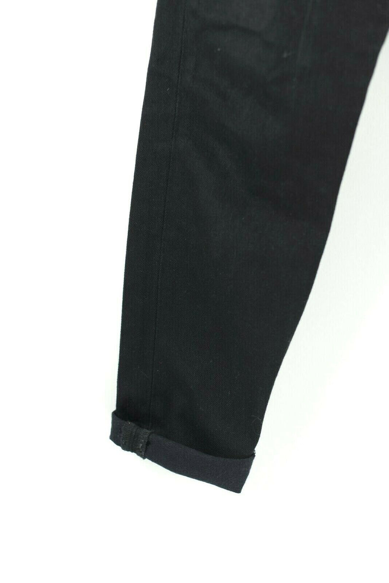 Levi's Womens 25 Black Jeans Denim Mom Jeans Pants High Rise Black Tab Straight