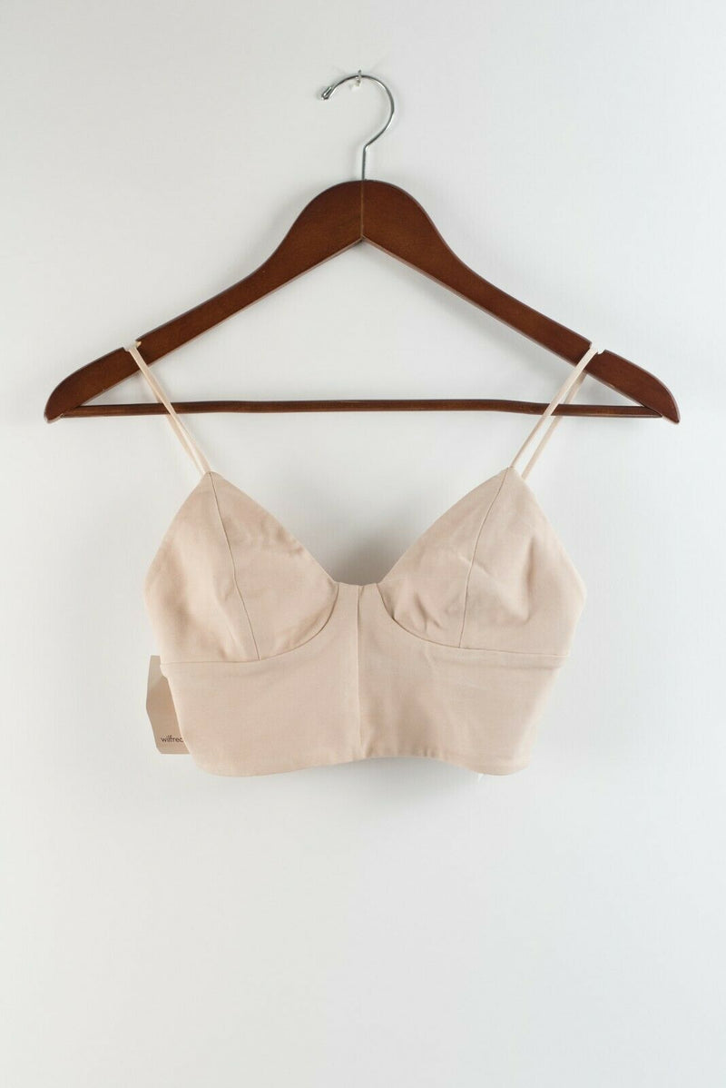 Wilfred Free Womens 0 XS Ling Bustier Prima Pink Cropped Tank Top Bralette NWT