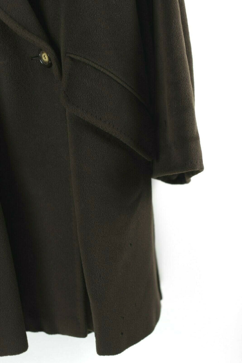 Max Mara Womens 2 Small Medium Coat Cashmere Wool Oversized Jacket Brown VTG