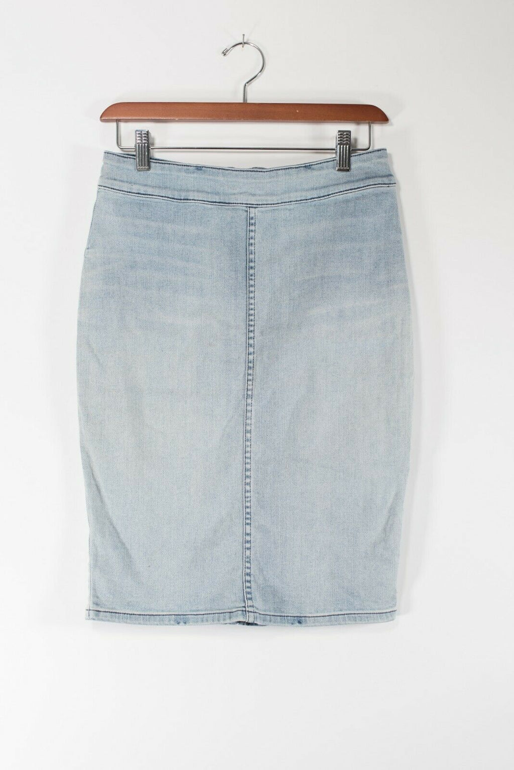 Aritzia The Casting Womens Size 6 Light Blue Denim Skirt High Waisted