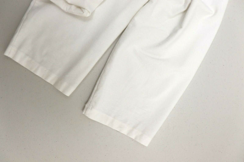 Eileen Fisher Women's Size Petite Large White Pants Stretch