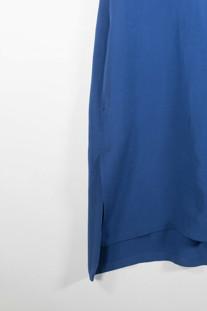 Sportmax Size 44 Blue Midi Dress