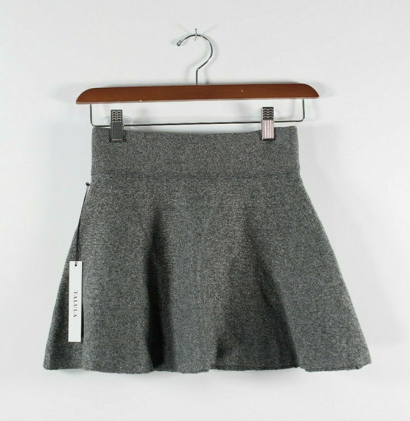 Aritzia Talula Womens XXS Salt Pepper Grey Skirt Vanderbilt Stretch Mini NWT