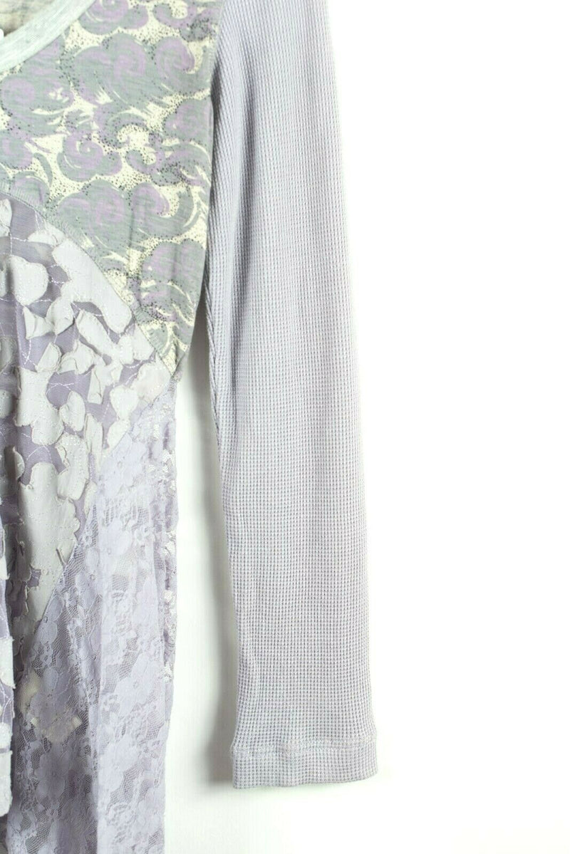 Scrapbook Originals Anthropologie Womens Medium Purple Top Long Sleeve Lace NWT