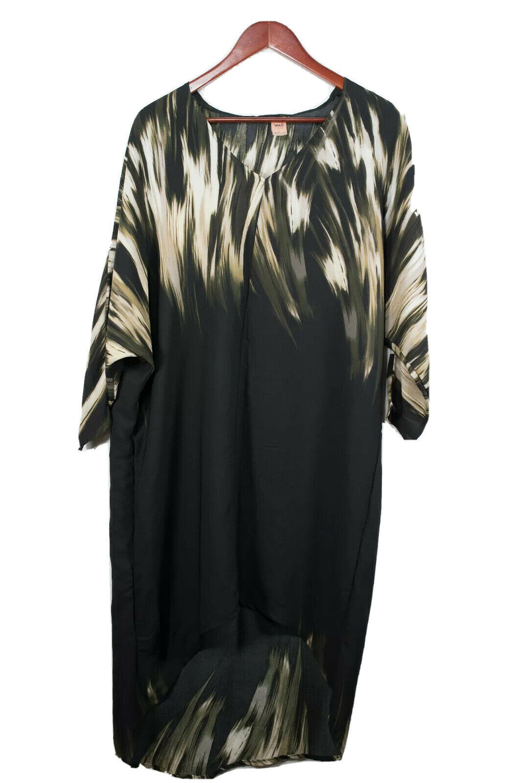 Smash + Tess Size XS Black Kaftan Coverup Dress