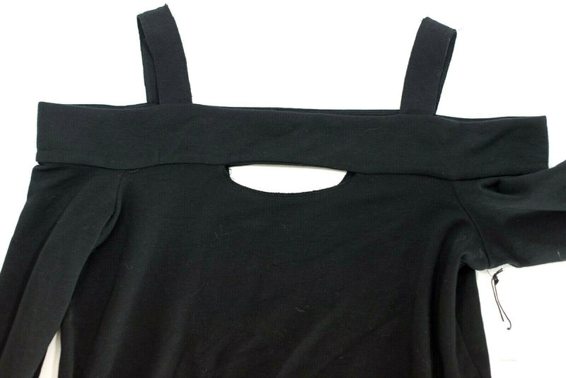 Bailey 44 Womens Large Black Sweatshirt Top Cold Shoulder Ground Swell New $168