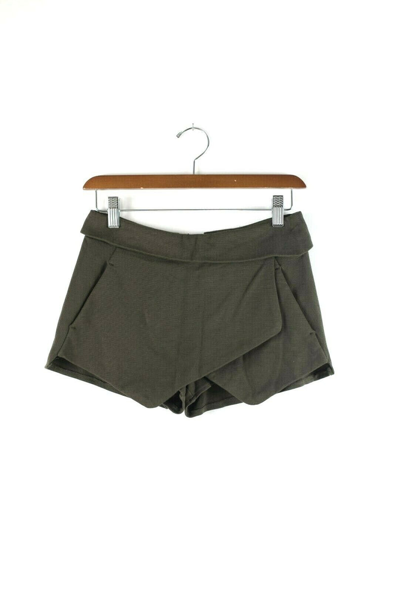 Talula Aritzia Womens Size 0 XXS Olive Green Skort Shorts Mini Skirt Pockets