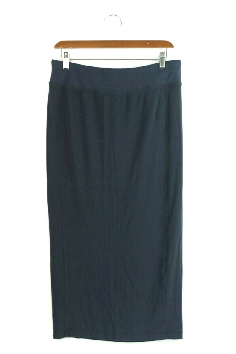 Kit and Ace Womens M Navy Blue Pencil Skirt Long & Lean Cashmere Wool Lululemon