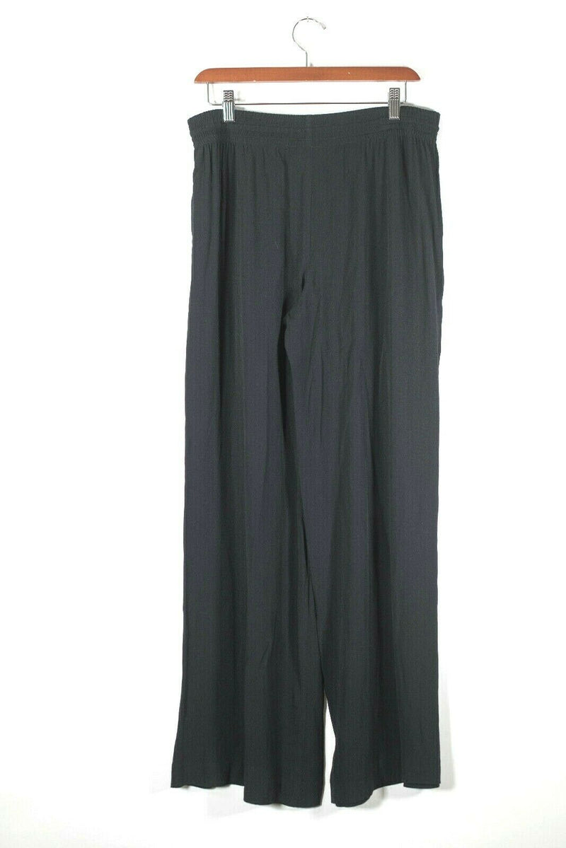 Rebecca Taylor Size 4 Black Wide Leg Pants