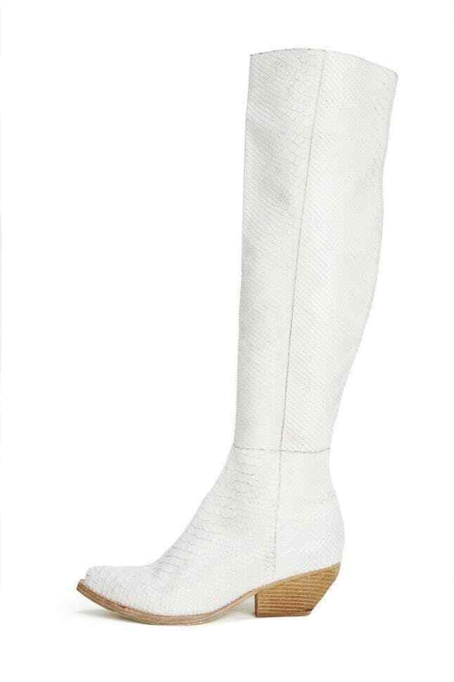 Free People x Jeffrey Campbell Women's 6 White Limitless Western Boots