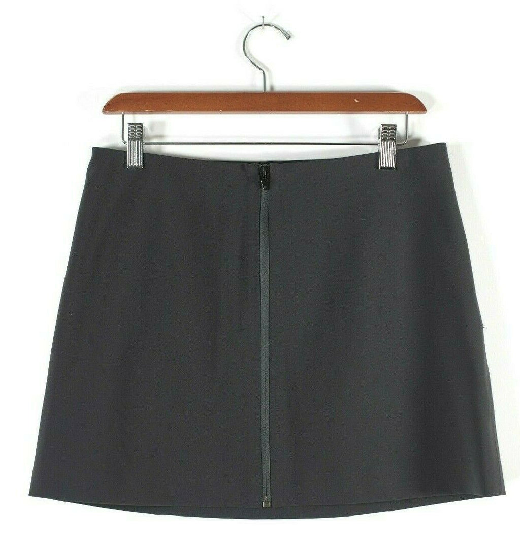 T. Alexander Wang Womens Size 8 M Black Skirt Neoprene Short Zip Front Mini NWT