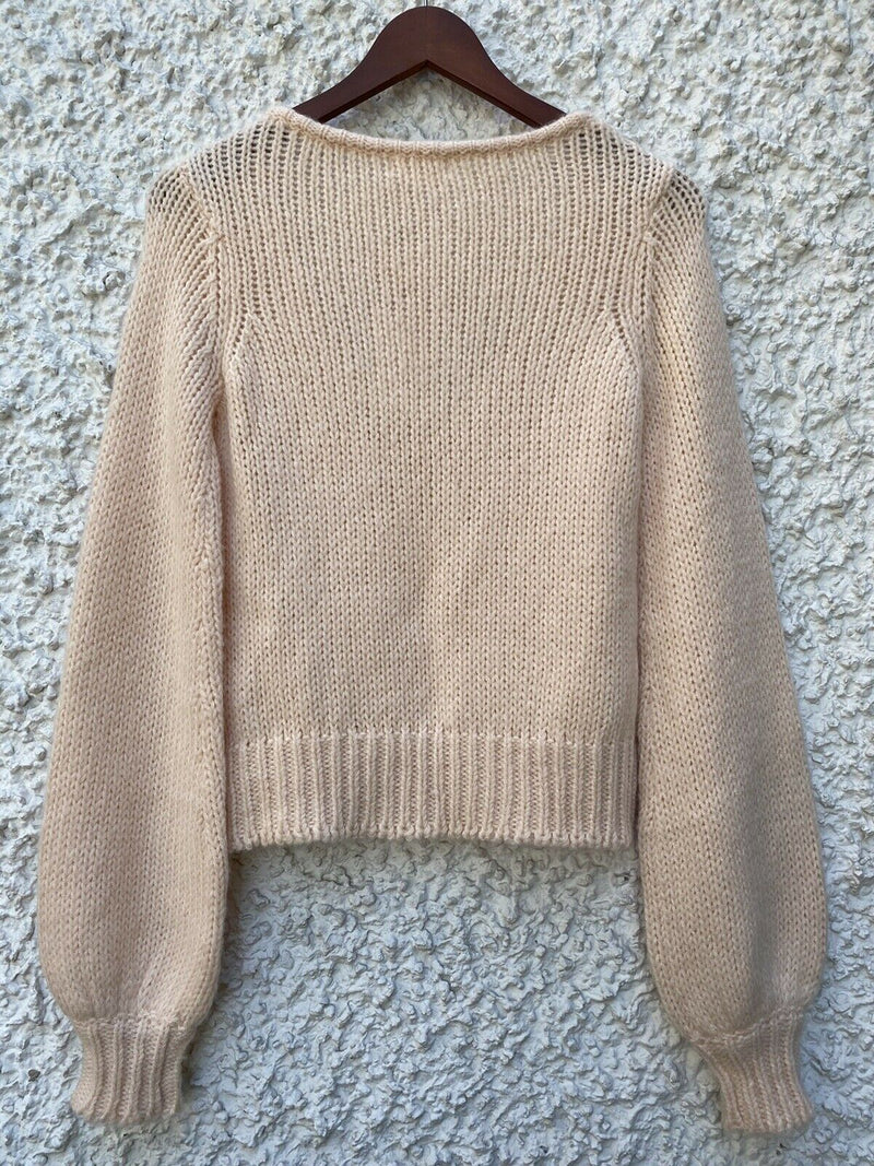 Lovers + Friends Womens Size XS Light Pink Pullover Sweater V Neck Shirt Top NWT