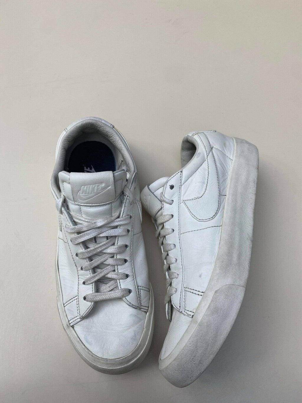 Nike Air Force 1 Womens Size 8 White Sneakers Low Leather Lace Athletic Shoes