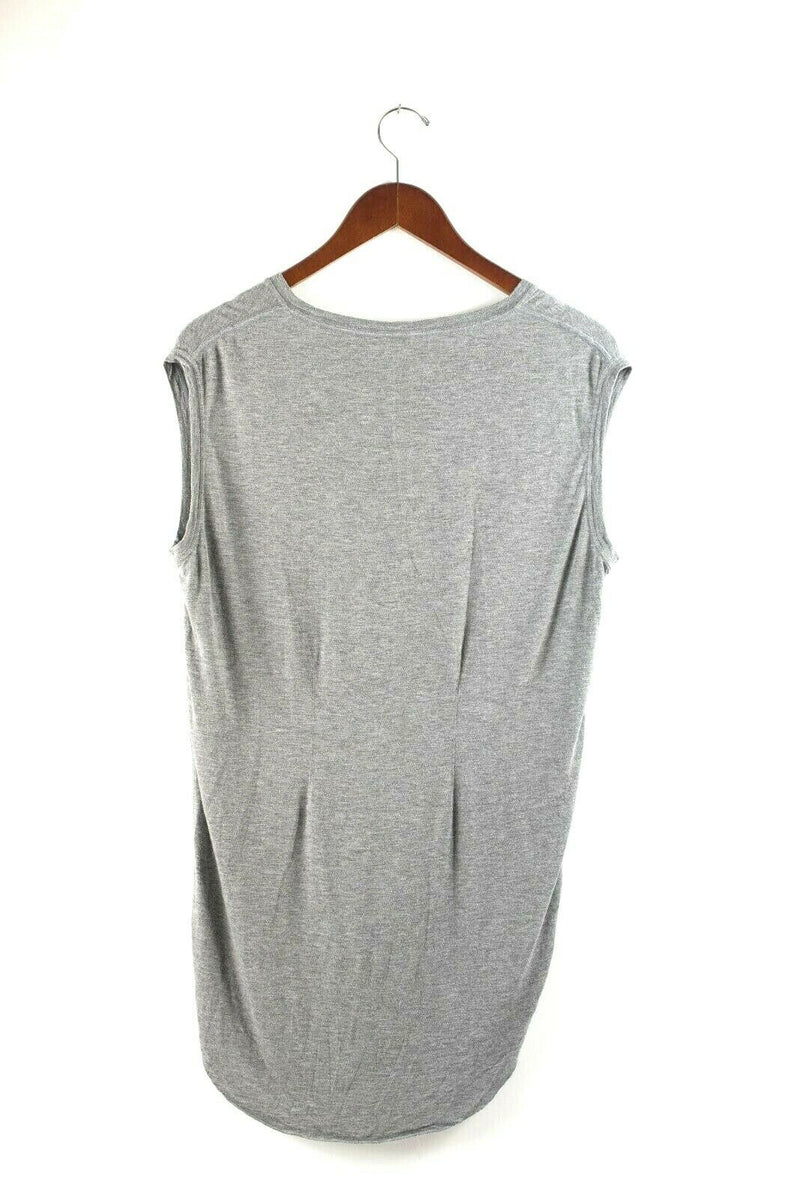 Kit And Ace Womens Small Grey T Shirt Top Pullover Sleeveless Tunic Jersey Tank